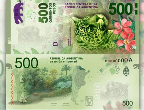 The Jaguar, image of the new bills of $ 500 in Argentina.
