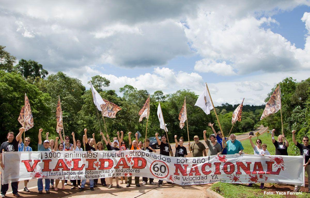 En Multitudinaria Caravana por la ruta 12, pedimos por radares y fotomultas para terminar con la muerte de Yaguaretés.