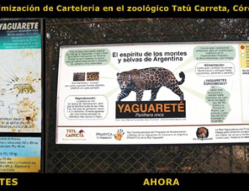 Optimización de cartelería en el Zoológico Tatú Carreta, en Córdoba.