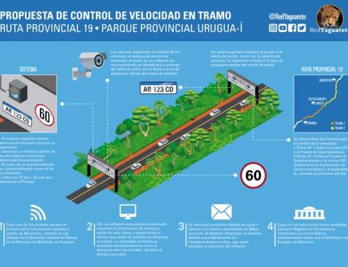 Control de velocidad en tramo: propuesta de Red Yaguareté para disminuir atropellamientos en Urugua-í.