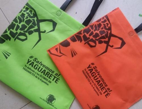 "Comprá nuestras bolsas ecológicas ""Salvemos Al Yaguareté"""